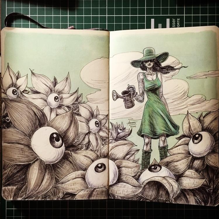 EYE DROPS - sketch, sketchbook, sketches - mrflama | ello