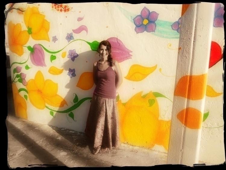 Flower Mural painted mural part - michellecortazar10 | ello