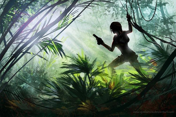 laracroft, tombraider, jungle - innavjuzhanina | ello