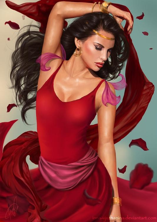 esmeralda, disney, girl, dance - innavjuzhanina | ello