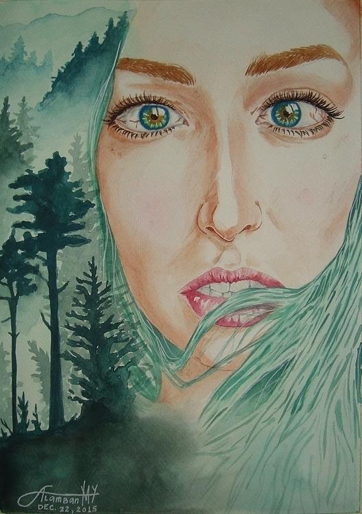 illustration, portrait, painting - thearthobo | ello