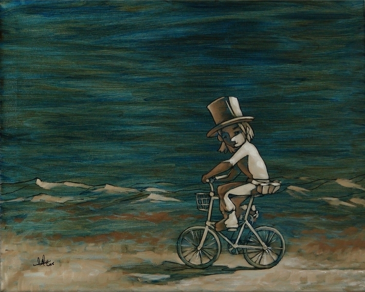 Burnt Rider - painting, oilpainting - aaroncampbell-2825 | ello