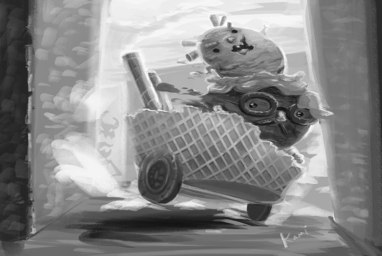 Character study - illustration, icecream - kamiqueiroz | ello