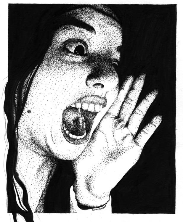 portrait, Faber Castell XS - illustration - sarahreasor | ello