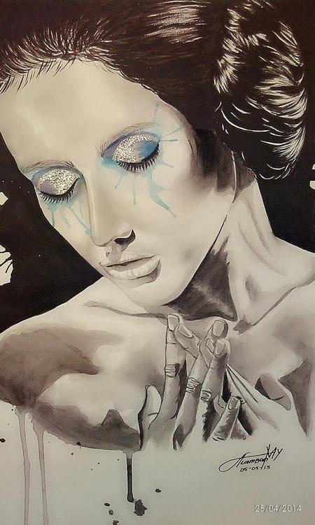 Feminist - illustration, painting - thearthobo   ello