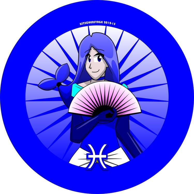 Lady Dauphine Pisces Fish - characterdesign - kitschensyngk | ello