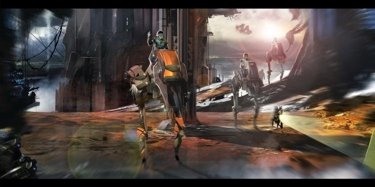 Patrol - painting, environment, conceptart - darrenlewis   ello