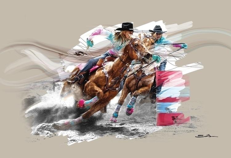 Barrels - horsesinaction, horse - emilioartist   ello