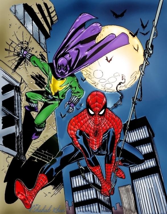 Spiderman Color Shahab Khan - spiderman - shahab01   ello