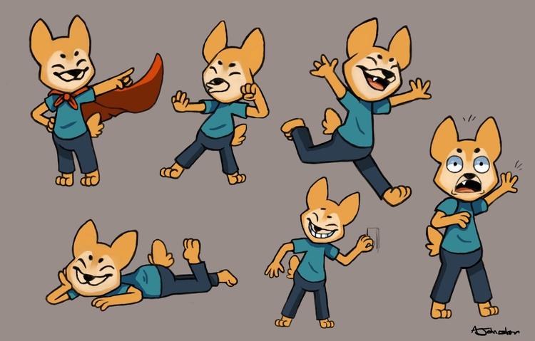 Character art Jun - illustration - alexjohnston | ello