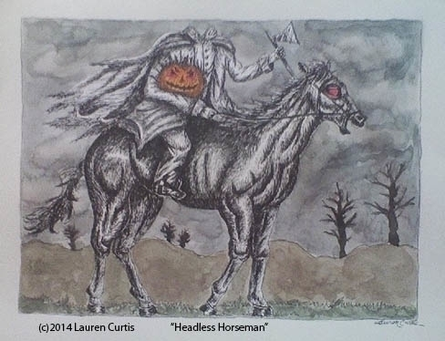 Headless Horseman pen ink water - laurencurtis | ello