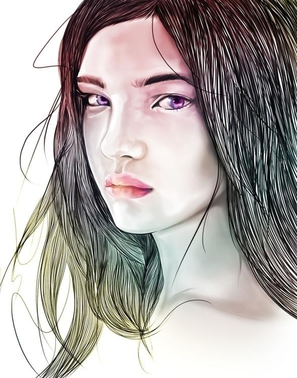 Natalia - portrait, illustration - evensillustration | ello