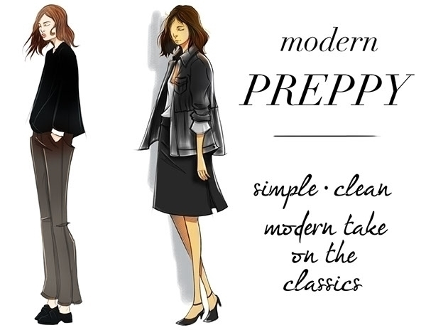 Modern Preppy - illustration, digitalart - evensillustration | ello