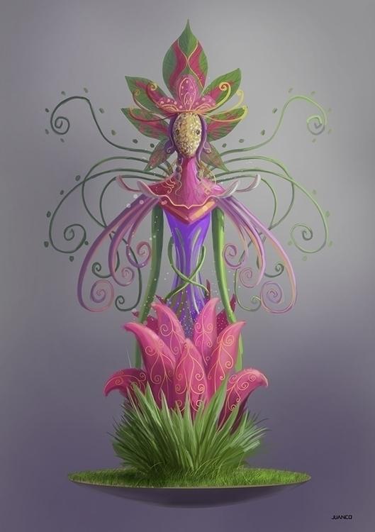 FLORA - drawing, conceptart, characterdesign - juanco-1165 | ello