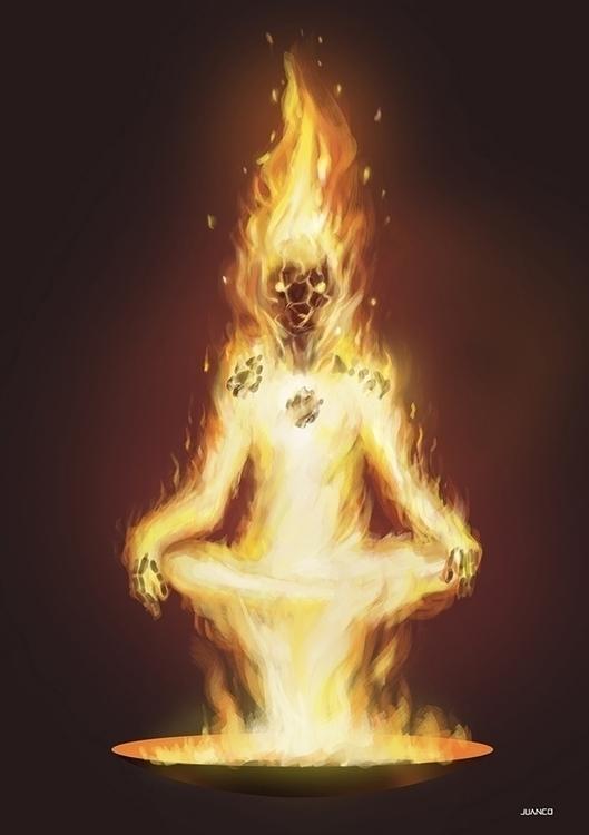 FIRE - illustration, characterdesign - juanco-1165 | ello