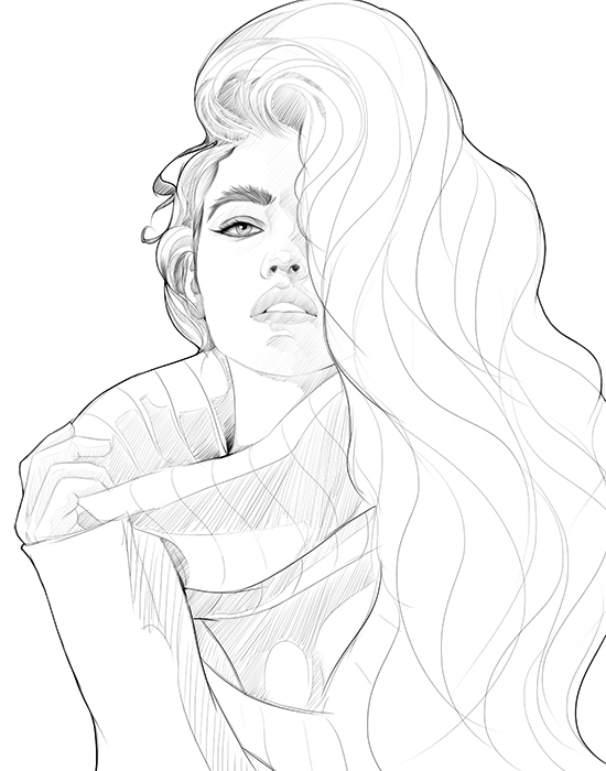 Barbara Palvin - illustration, digitalillustration - evensillustration | ello