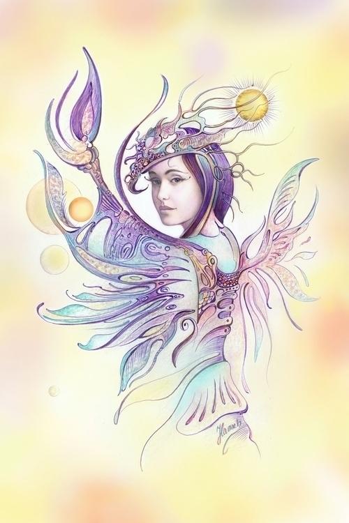 CANCER - Protective Angel Zodia - annahannahart | ello