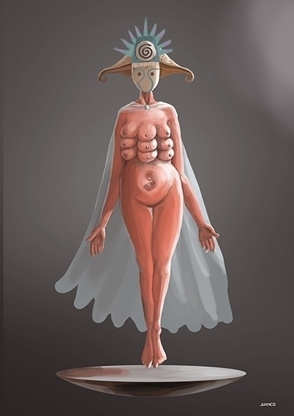 MOTHER - illustration, characterdesign - juanco-1165 | ello