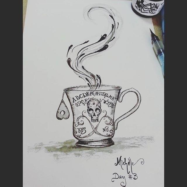 Ouija cup inktober 2015 challen - michellecortazar10   ello