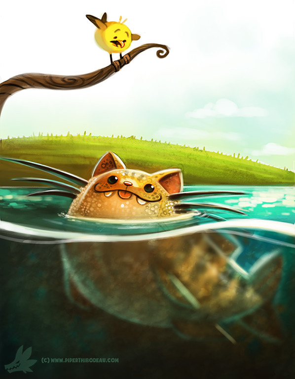 Daily Paint Cat-fish - 989. - piperthibodeau | ello