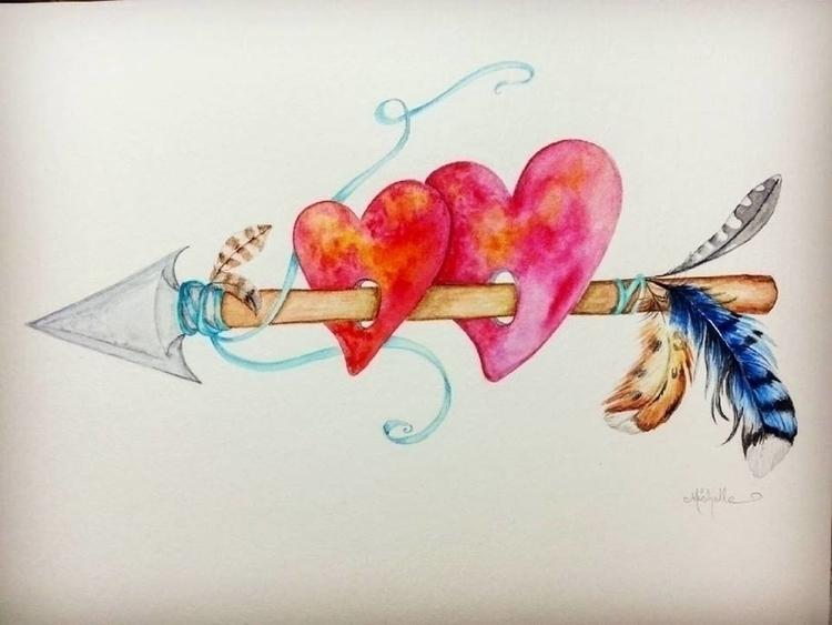 Lovers watercolor - illustration - michellecortazar10 | ello
