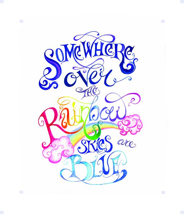 Rainbow watercolor caligraphy a - michellecortazar10 | ello