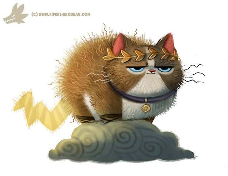 Daily Paint Zeus Cat - 1032. - piperthibodeau | ello