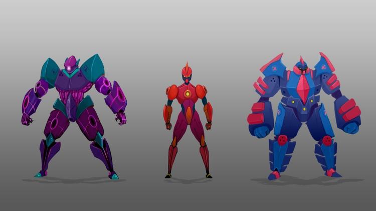 Android Trio - illustration, characterdesign - planckpixels | ello