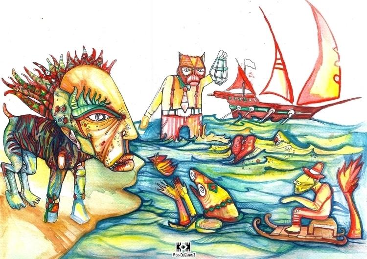 Mediterranean Salt - illustration - azuldecobalt | ello
