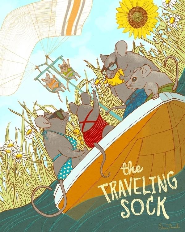 Traveling Sock - children'sbook - brennathummler | ello