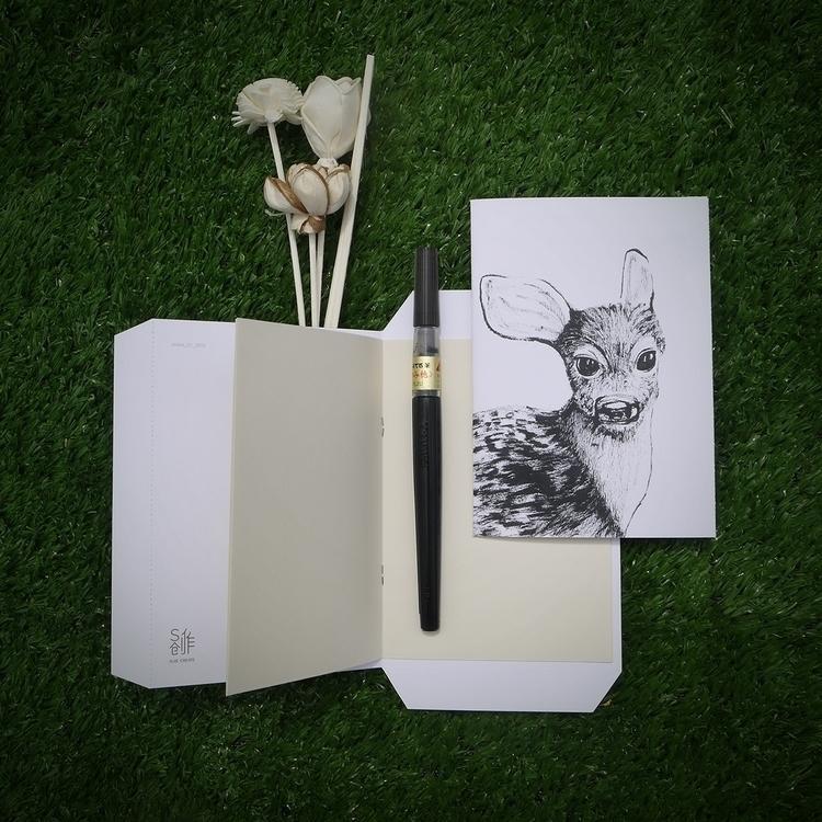 Baby Deer • Postcard. Pm price - sijie_ng   ello
