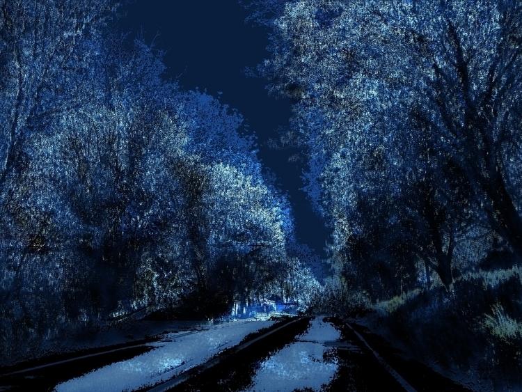 Blue Forest - artwork, digitalart - aiakira   ello