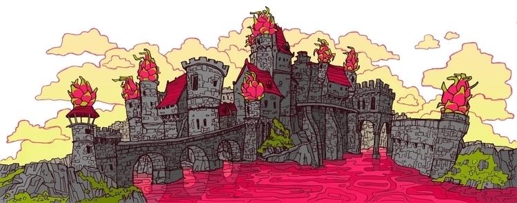 Dungeons Dragonfruit - castle, medieval - brennathummler | ello