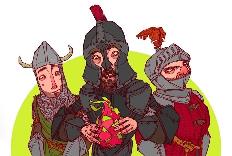 Slay Dragonfruit - medieval, knight - brennathummler | ello