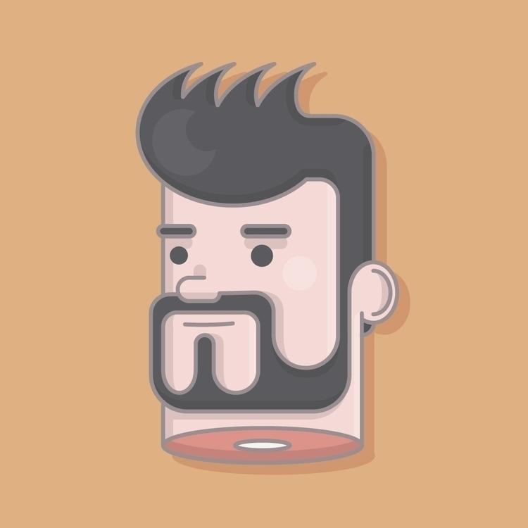 selfie - illustration, vector, selfportrait - martori | ello