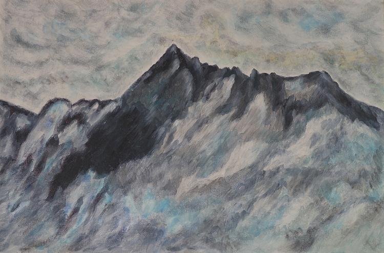 painting, nature, mountains, acryliconcanvas - malercutio | ello