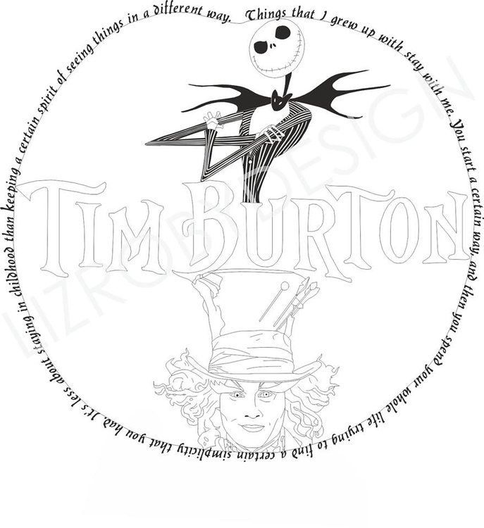 Tim Burton Tattoo Design - tattoodesign - lizroby | ello