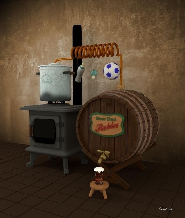Ilustração 3D modelada Blender  - celsoluiz | ello