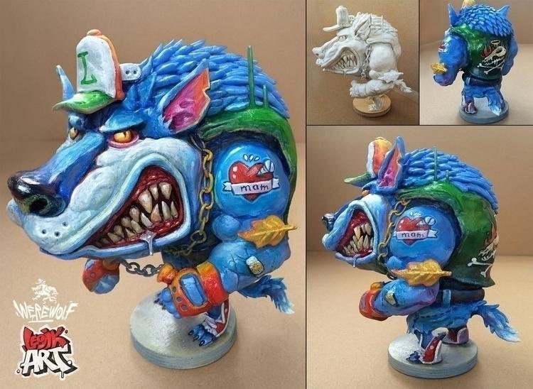 Werewolf - werewolf, sculpture - legik   ello