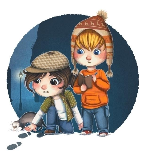 illustration, detective, kids - melissadelteil   ello