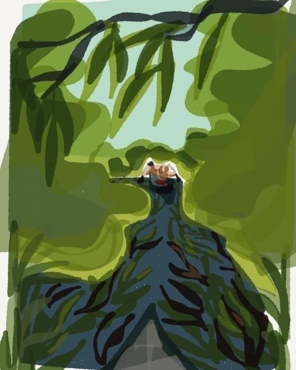 Paddling Ichetucknee - illustration - madelinekohm | ello