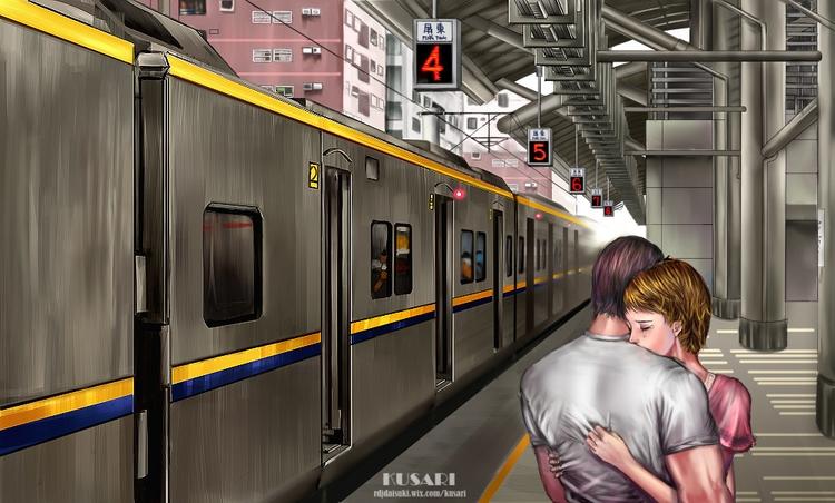 illustration, painting, drawing - kusari   ello