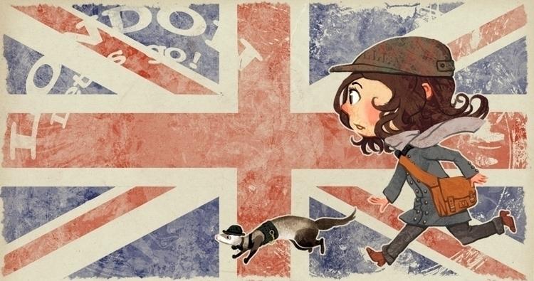 illustration, kids, london - melissadelteil | ello