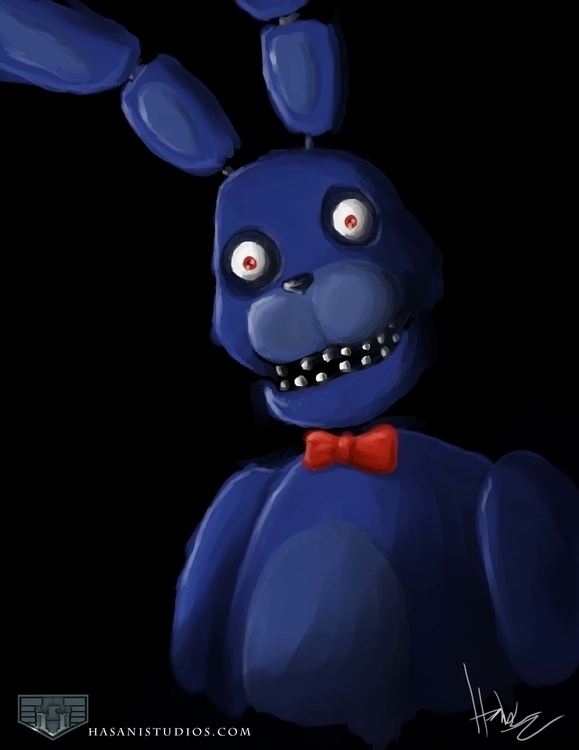Bonnie Bunny - fnaf, illustration - hasaniwalker | ello