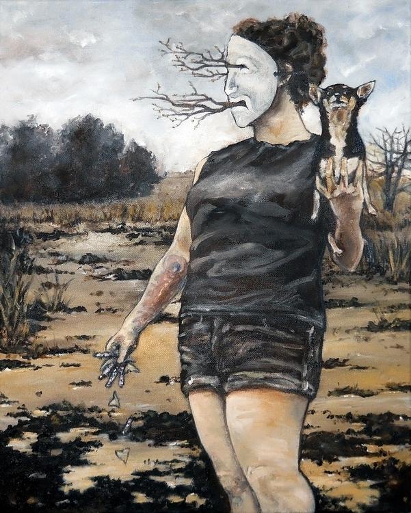 Sleep Crying, Oil canvas 2015 - illustration - emilyadleblute   ello