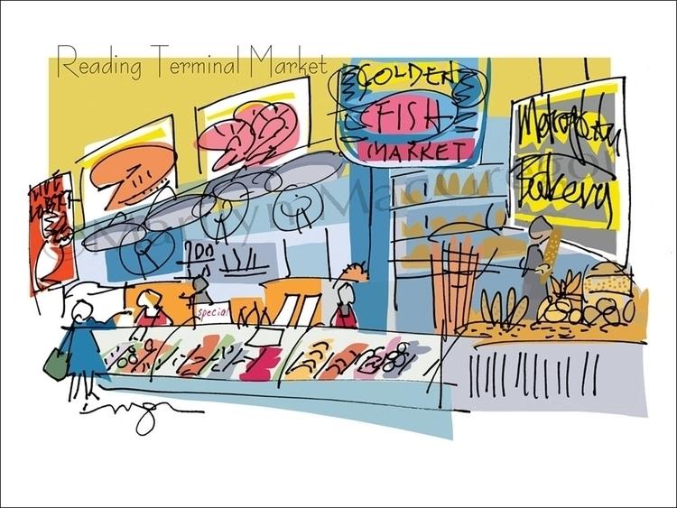 Reading Terminal Market Golden - macgregorart | ello