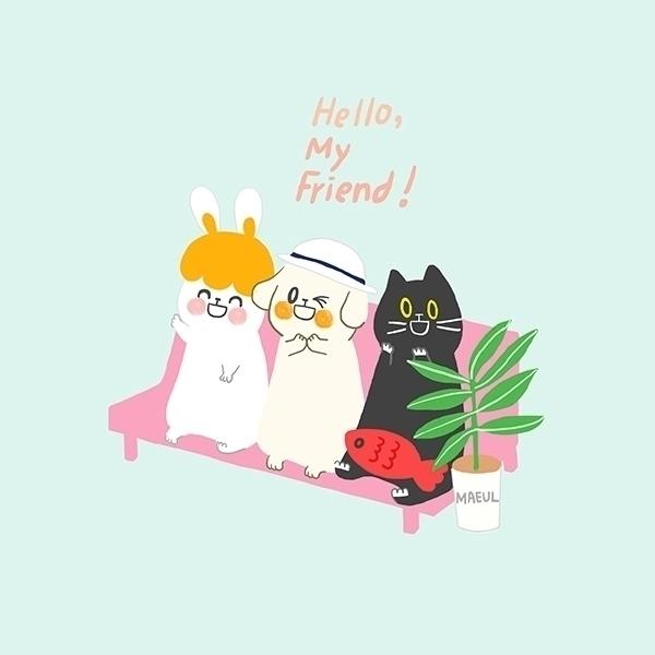 friend  - illustration, characterdesign - maeul | ello
