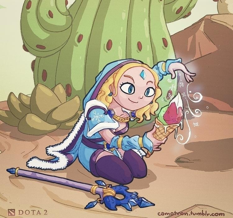 dota2, crystalmaiden - camotron | ello