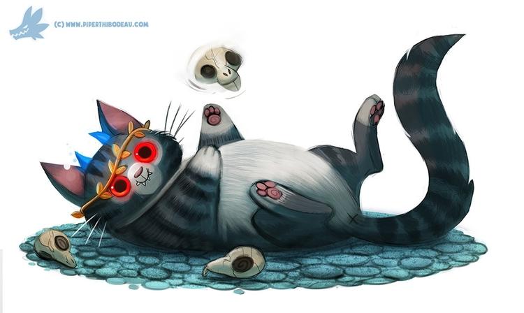Daily Paint Hades Cat - 1033. - piperthibodeau | ello