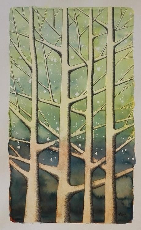 illustration, painting, trees - patrickvandeput   ello